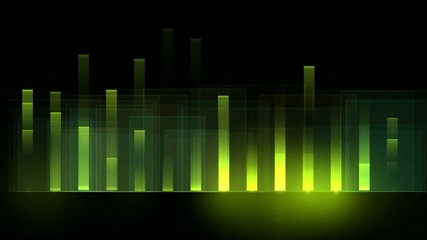 green background equalizer,seamless loop,def