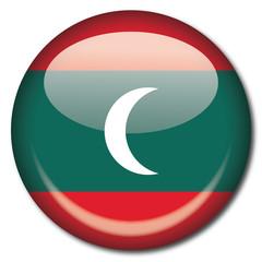 Chapa bandera Maldivas