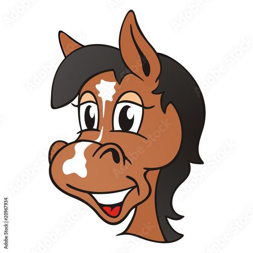 Fotobehang Paardrijden Ponyhead Brown