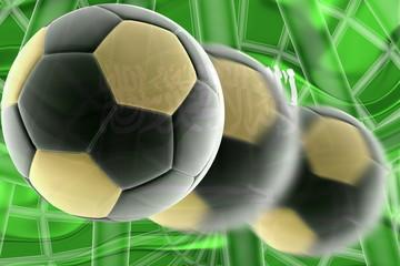 Flag of Saudi Arabia wavy soccer