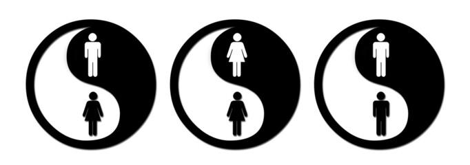 yin yang man/woman