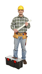 handyman with spirit level