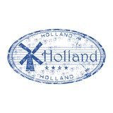 Holland grunge rubber stamp