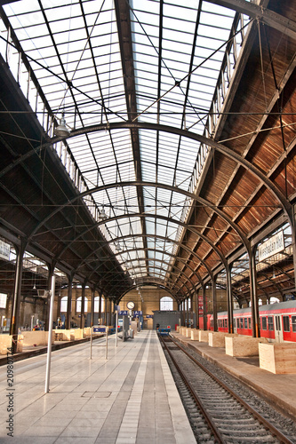 trainstation, glass of roof gives a beautiful harmonic structure
