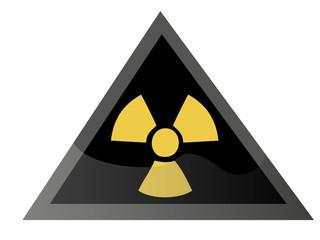 Señal Radioactividad Triangular negra