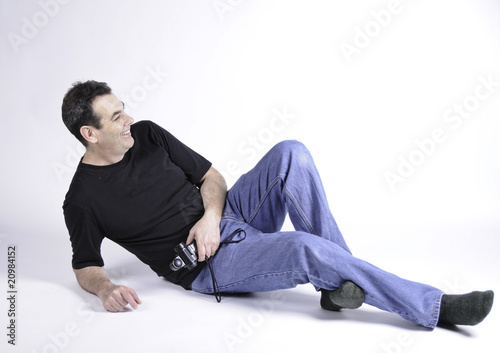 Man on studio floor