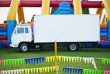 White truck at children's fun fair
