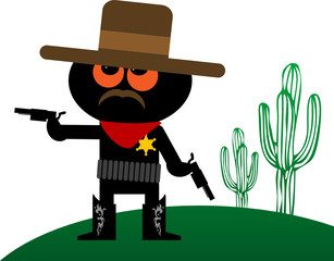Sheriff vector illustration