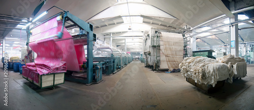 Printing and Dyeing Factory Panorama