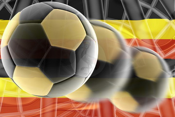 Flag of Uganda wavy soccer