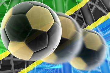 Flag of Tanzania wavy soccer