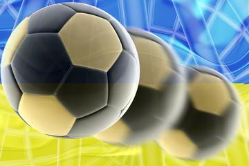 Flag of Ukraine wavy soccer