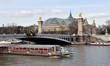 Grand palais,  pont Alexandre III et bateau mouche