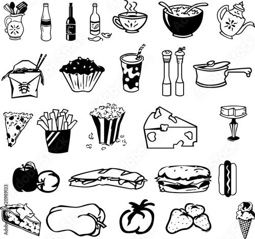 symbols food drink