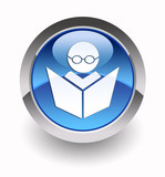 'E-learning' glossy icon poster