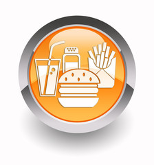 ''Fast food'' glossy icon