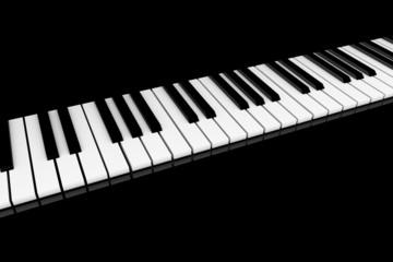 Klavier Klaviatur gerade, schräg schwarz 2