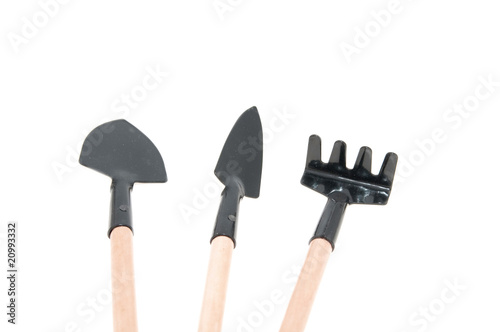 Garden tools isolated over white