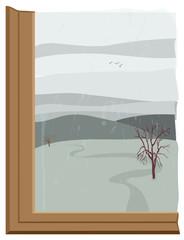 finestra invernale