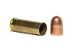 44 caliber magnum pistol cartridge case with 9mm bullet