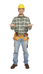 showing pose handyman