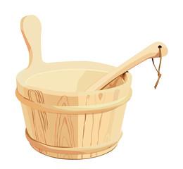 secchio per sauna