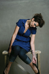 Modern fashion caucasian model