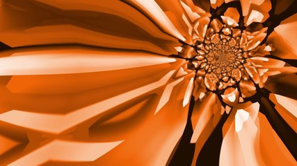 Kaleidoscopic orange and brown colours