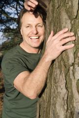 happy smiling outdoor man