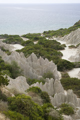 Eroded Clay Formations, Zakynthos Island