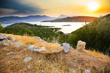 Sunset in Greece, Poros