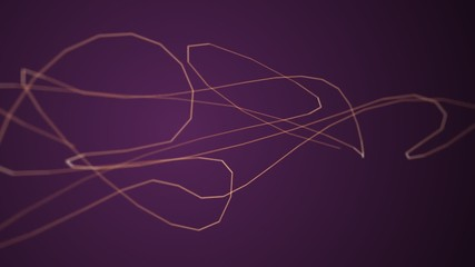 Fast moving particle line on purple background