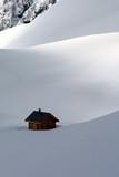 Alpes Montagne Neige Snow Solitude Refuge Isolement poster