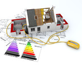 Energy efficient housing project poster