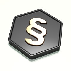 Paragraph Symbol 3D - 02