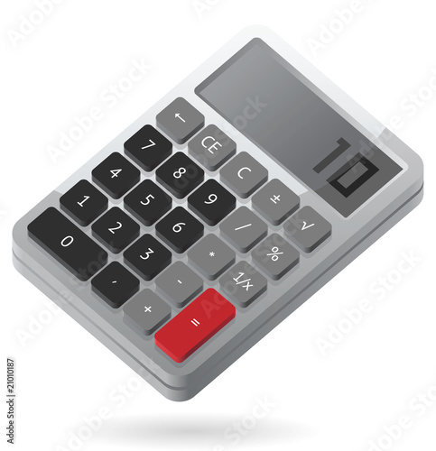 Isometric icon of calculator