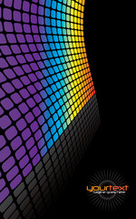 Rainbow Grid Background