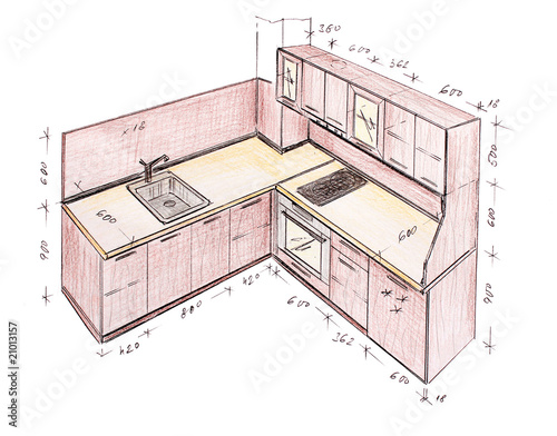 Simple Kitchen Drawing delighful interior design kitchen drawings interiors sketches s with