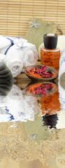 décoration zen, massage, sauna, relaxation, fond bambou
