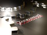 Zahnräder - Teamwork - 3D