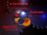 Bussineskonzepte - e-Commerce, Business, Network