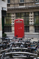 Bicycles with a Red Phone Box