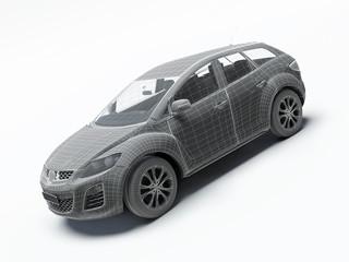 3d render car.