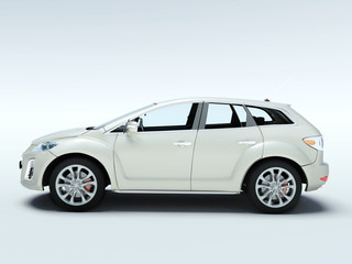 New modern car, 3d render.
