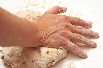 Le pétrissage du pain