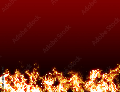 Fire flames red background