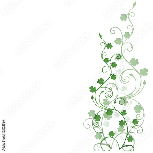 Clover foliage, background