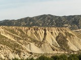 característica geológica Abanilla Murcia poster