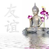 Fototapety Buddha und Zeichen für Freundschaft