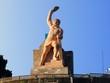 Leinwanddruck Bild - Statue Guanajuato
